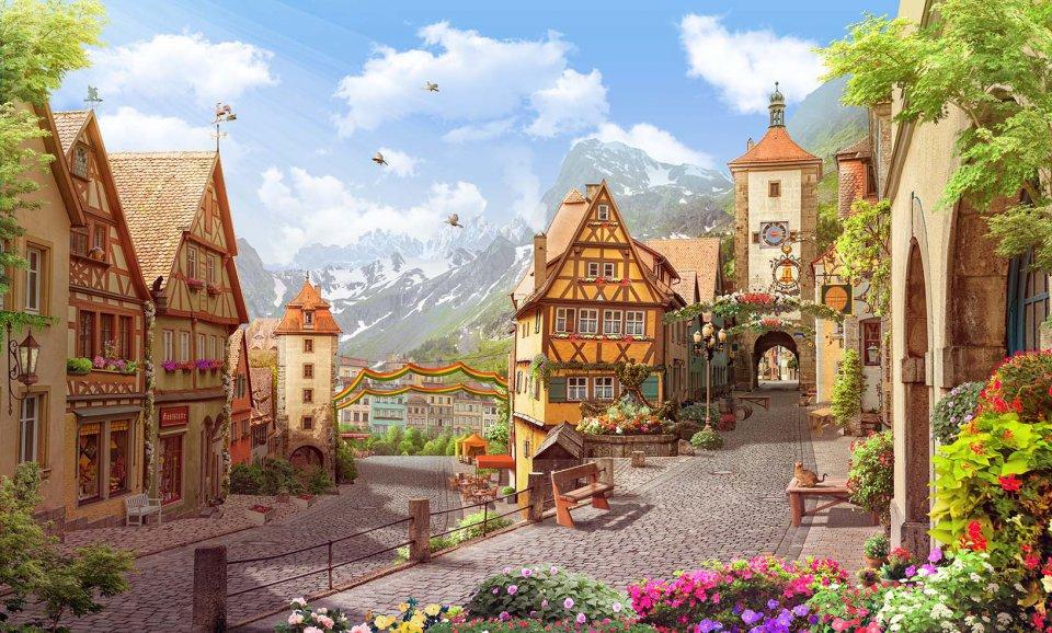 картинки домики и улицы дом