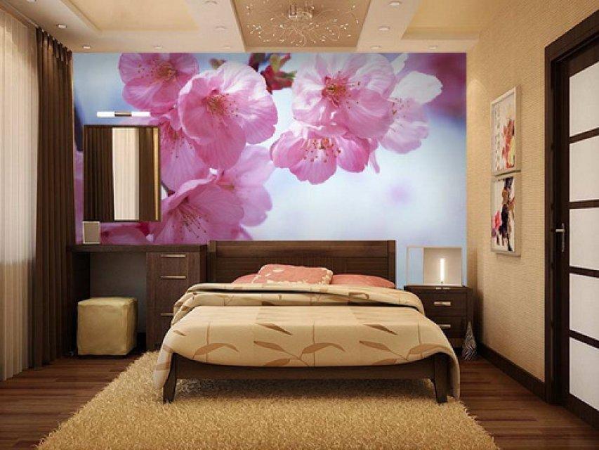 Цвет обоев для спальни фото