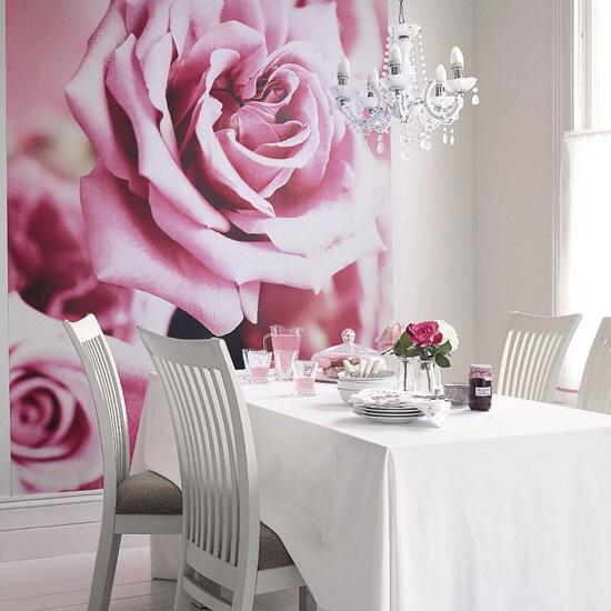 Фотообои розы в интерьере кухни фото