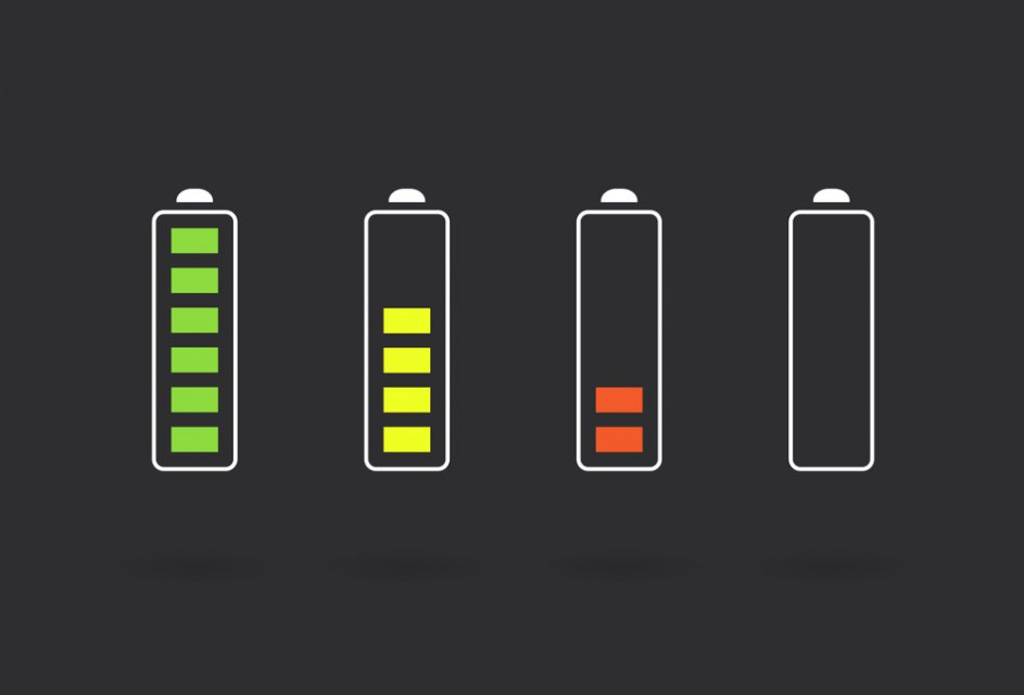 картинка индикатор заряда батареи немного