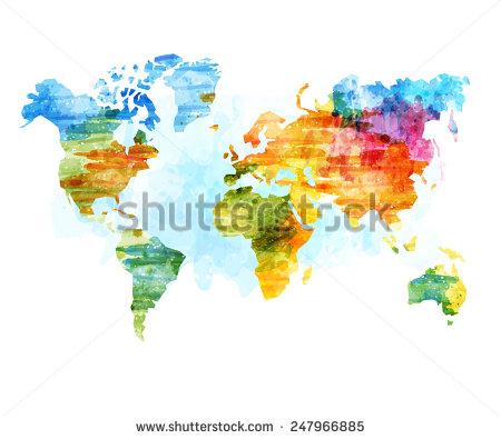 Дизайн с картами мира